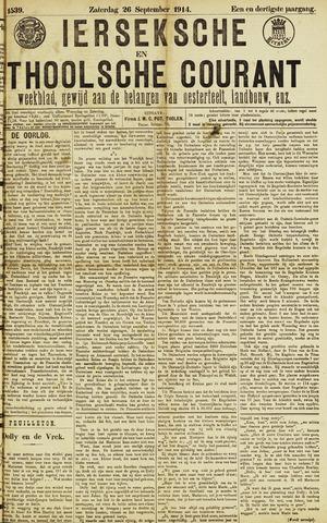 Ierseksche en Thoolsche Courant 1914-09-26