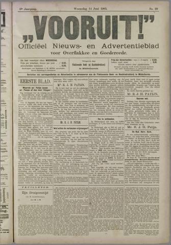 """""""Vooruit!""""Officieel Nieuws- en Advertentieblad voor Overflakkee en Goedereede 1905-06-14"""