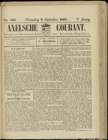 Axelsche Courant 1891-09-09