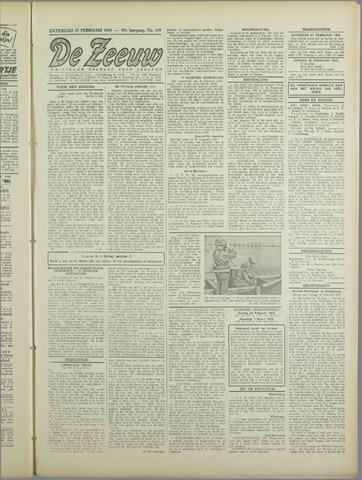 De Zeeuw. Christelijk-historisch nieuwsblad voor Zeeland 1943-02-27