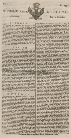 Middelburgsche Courant 1771-09-19