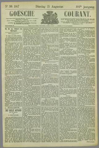 Goessche Courant 1917-08-21