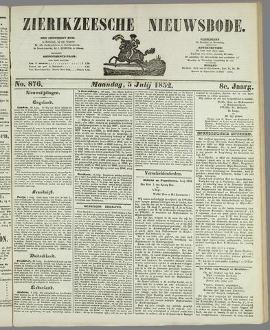Zierikzeesche Nieuwsbode 1852-07-05