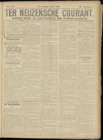 Ter Neuzensche Courant. Algemeen Nieuws- en Advertentieblad voor Zeeuwsch-Vlaanderen / Neuzensche Courant ... (idem) / (Algemeen) nieuws en advertentieblad voor Zeeuwsch-Vlaanderen 1924-06-11