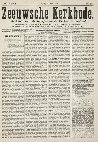 Zeeuwsche kerkbode, weekblad gewijd aan de belangen der gereformeerde kerken/ Zeeuwsch kerkblad 1918-05-10