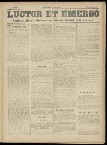 Luctor et Emergo. Antirevolutionair nieuws- en advertentieblad voor Zeeland / Zeeuwsch-Vlaanderen. Orgaan ter verspreiding van de christelijke beginselen in Zeeuwsch-Vlaanderen 1917-06-02