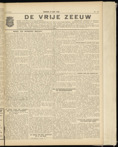 de Vrije Zeeuw 1945-11-27