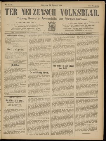 Ter Neuzensch Volksblad. Vrijzinnig nieuws- en advertentieblad voor Zeeuwsch- Vlaanderen / Zeeuwsch Nieuwsblad. Nieuws- en advertentieblad voor Zeeland 1914-01-24