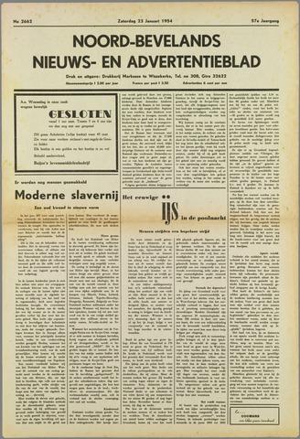 Noord-Bevelands Nieuws- en advertentieblad 1954-01-23