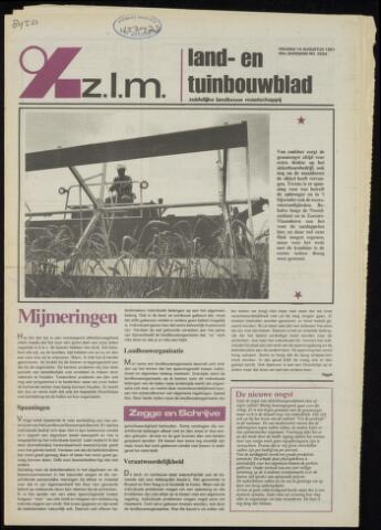 Zeeuwsch landbouwblad ... ZLM land- en tuinbouwblad 1981-08-14