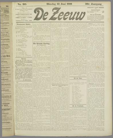 De Zeeuw. Christelijk-historisch nieuwsblad voor Zeeland 1916-06-13