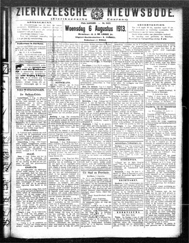 Zierikzeesche Nieuwsbode 1913-08-06
