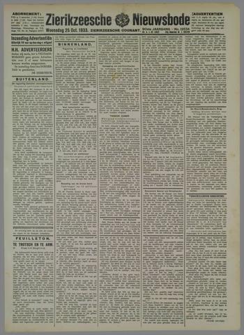 Zierikzeesche Nieuwsbode 1933-10-25