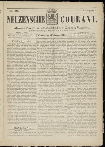 Ter Neuzensche Courant. Algemeen Nieuws- en Advertentieblad voor Zeeuwsch-Vlaanderen / Neuzensche Courant ... (idem) / (Algemeen) nieuws en advertentieblad voor Zeeuwsch-Vlaanderen 1876-02-09