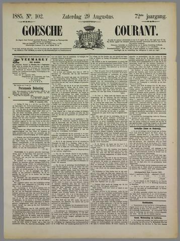 Goessche Courant 1885-08-29