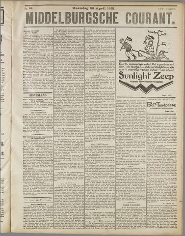 Middelburgsche Courant 1921-04-25