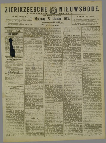 Zierikzeesche Nieuwsbode 1913-10-27