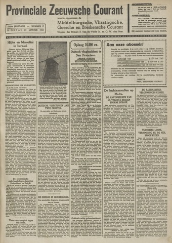 Provinciale Zeeuwse Courant 1941-01-21