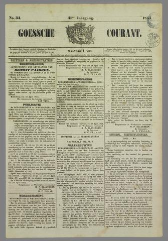 Goessche Courant 1854-05-01