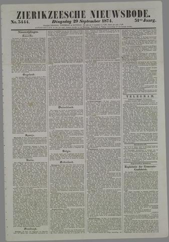 Zierikzeesche Nieuwsbode 1874-09-29