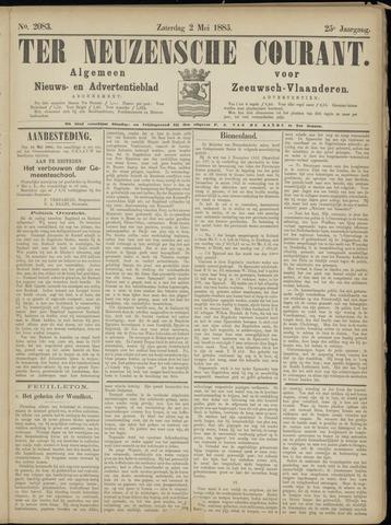 Ter Neuzensche Courant. Algemeen Nieuws- en Advertentieblad voor Zeeuwsch-Vlaanderen / Neuzensche Courant ... (idem) / (Algemeen) nieuws en advertentieblad voor Zeeuwsch-Vlaanderen 1885-05-02