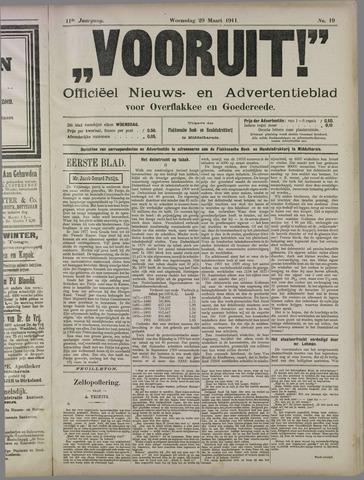 """""""Vooruit!""""Officieel Nieuws- en Advertentieblad voor Overflakkee en Goedereede 1911-03-29"""