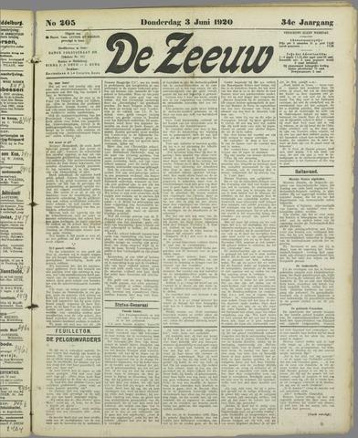 De Zeeuw. Christelijk-historisch nieuwsblad voor Zeeland 1920-06-03