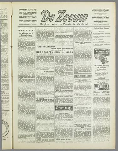 De Zeeuw. Christelijk-historisch nieuwsblad voor Zeeland 1937-10-30