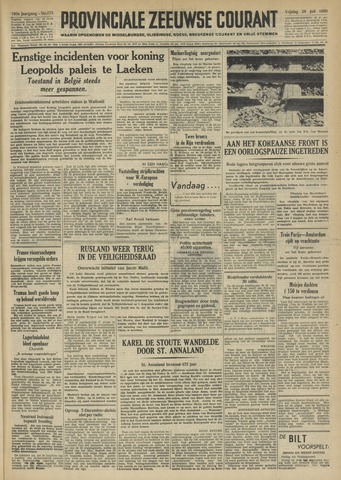 Provinciale Zeeuwse Courant 1950-07-28