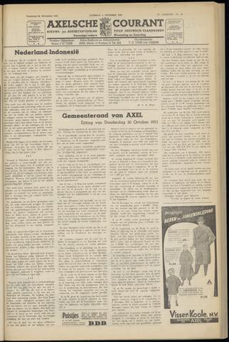Axelsche Courant 1952-11-01