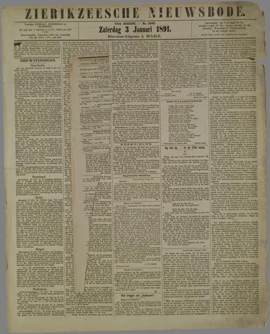 Zierikzeesche Nieuwsbode 1891-01-03