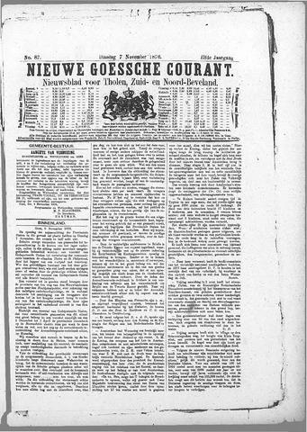 Nieuwe Goessche Courant 1876-11-07