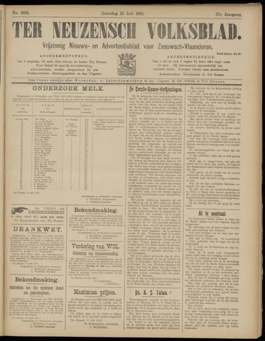 Ter Neuzensch Volksblad. Vrijzinnig nieuws- en advertentieblad voor Zeeuwsch- Vlaanderen / Zeeuwsch Nieuwsblad. Nieuws- en advertentieblad voor Zeeland 1916-07-15
