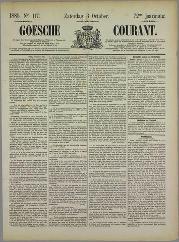 Goessche Courant 1885-10-03