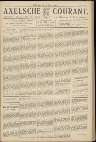 Axelsche Courant 1938-04-22