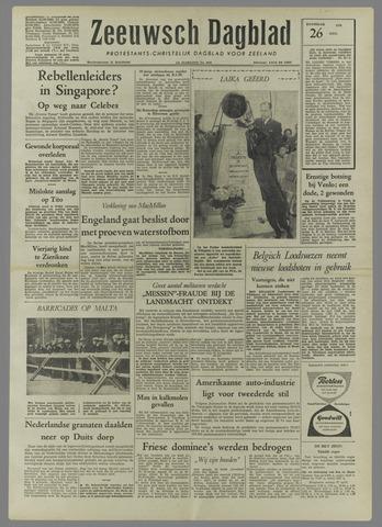 Zeeuwsch Dagblad 1958-04-26