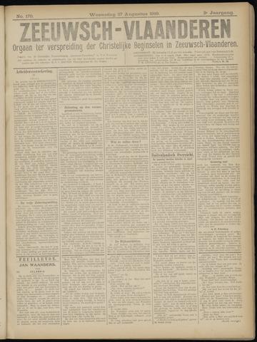 Luctor et Emergo. Antirevolutionair nieuws- en advertentieblad voor Zeeland / Zeeuwsch-Vlaanderen. Orgaan ter verspreiding van de christelijke beginselen in Zeeuwsch-Vlaanderen 1919-08-27