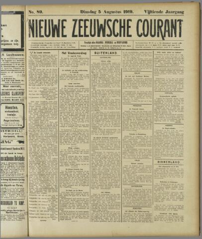 Nieuwe Zeeuwsche Courant 1919-08-05