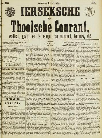 Ierseksche en Thoolsche Courant 1891-11-07