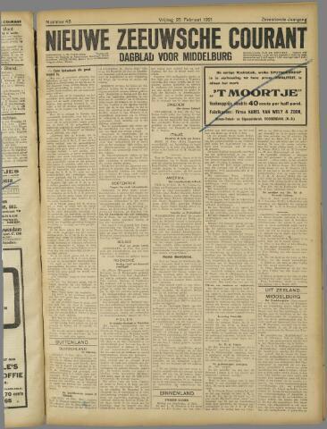 Nieuwe Zeeuwsche Courant 1921-02-25