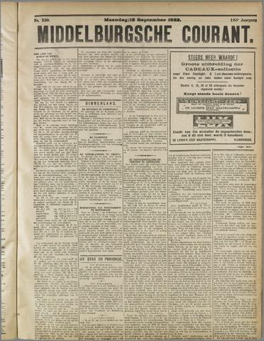 Middelburgsche Courant 1922-09-18