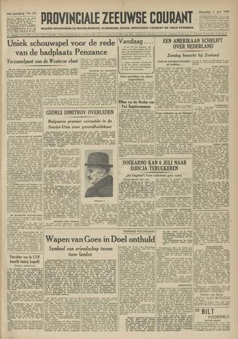 Provinciale Zeeuwse Courant 1949-07-04