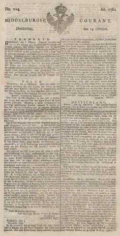 Middelburgsche Courant 1762-10-14
