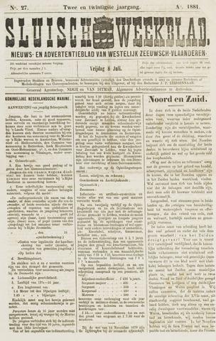 Sluisch Weekblad. Nieuws- en advertentieblad voor Westelijk Zeeuwsch-Vlaanderen 1881-07-08
