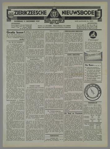 Zierikzeesche Nieuwsbode 1937-12-11