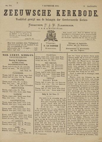 Zeeuwsche kerkbode, weekblad gewijd aan de belangen der gereformeerde kerken/ Zeeuwsch kerkblad 1889-09-07