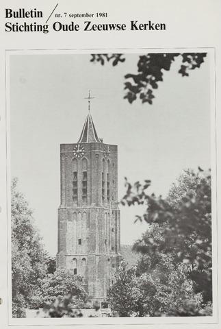 Bulletin Stichting Oude Zeeuwse kerken 1981-09-01