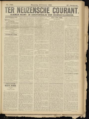 Ter Neuzensche Courant. Algemeen Nieuws- en Advertentieblad voor Zeeuwsch-Vlaanderen / Neuzensche Courant ... (idem) / (Algemeen) nieuws en advertentieblad voor Zeeuwsch-Vlaanderen 1923-10-22