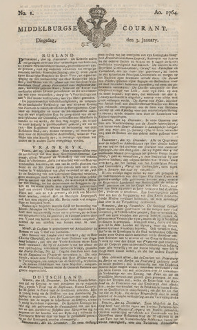 Middelburgsche Courant 1764-01-03