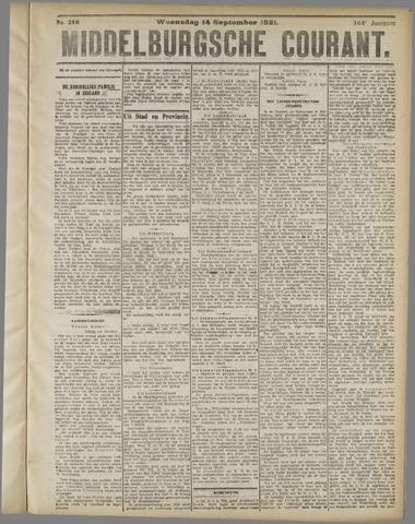 Middelburgsche Courant 1921-09-14